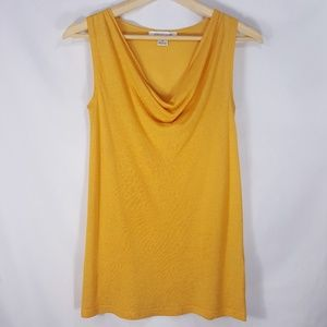 August Silk Linen Cowl Neck Blouse Sleeveless Tank